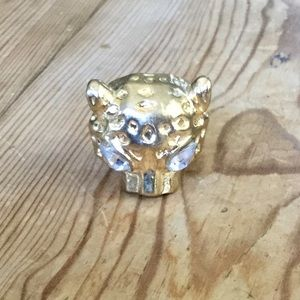 Gold Tone Cheetah or Leopard Ring